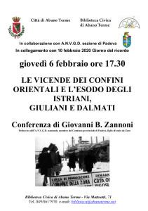 2020-02-06 Esodo istriani _Zannoni_